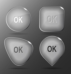 Ok glass buttons vector