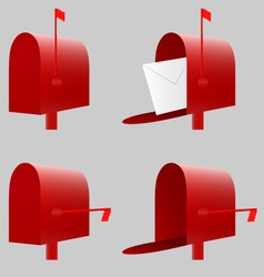 Red mailbox eps10 vector