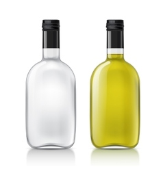 Template of glass bottle vector