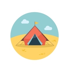 Tent flat icon vector