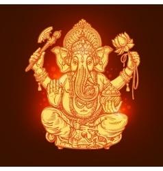 Beautiful card with god ganesha vector