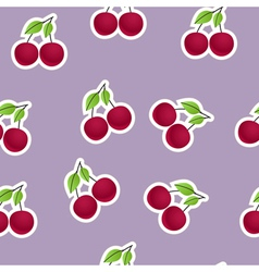 Cherries background vector