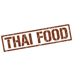 Thai food stamp vector