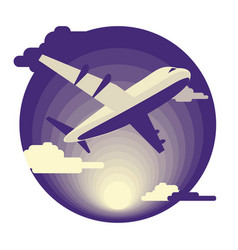 Airplane in flat design vector