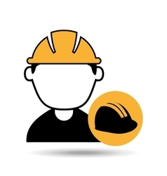 avatar man construction worker with helmet icon vector image