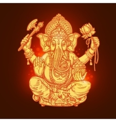 Beautiful card with god ganesha vector