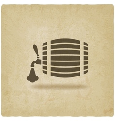Beer barrel old background vector