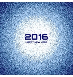 Blue new year 2016 snow flake background vector