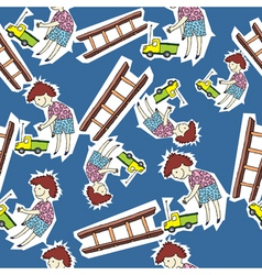 boy pattern vector image vector image