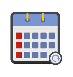 calendar mobile icon flat style vector image