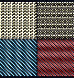 carbon fiber kevlar and decorative vector image vector image