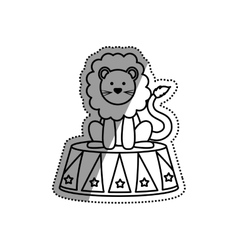 Circus lion cartoon vector