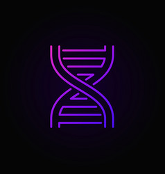 dna spiral colorful icon or symbol in thin line vector image