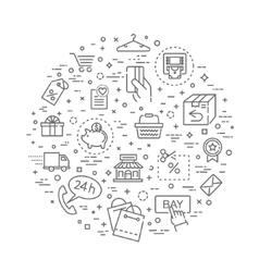 E-commerce concept outline design vector