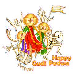 gudi padwa celebration of india vector image