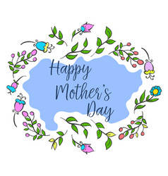 Happy mother day collection design vector