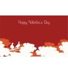 Happy Valentine Day card landscape vector image vector image