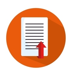icon document upload process design isolated vector image