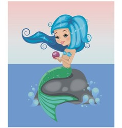 Little mermaid vector image