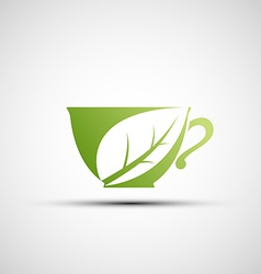 logo cup of tea vector image vector image