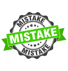 Mistake stamp sign seal vector