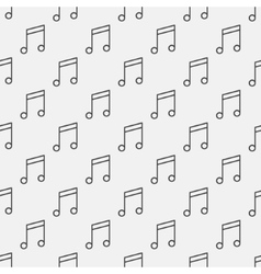 Music notes pattern vector image vector image