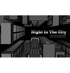 Night in the city vector image vector image