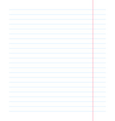realistic paper sheet blue lined vector image
