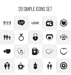 set of 20 editable passion icons includes symbols vector image vector image