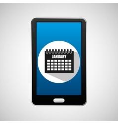 Social media mobile calendar planning vector