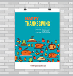 Thanksgiving Day poster vector image vector image