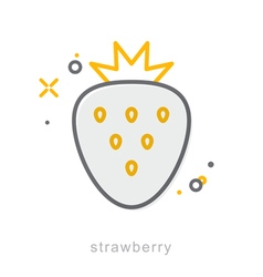 Thin line icons Strawberry vector image