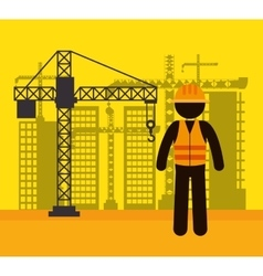 worker construction avatar icon vector image