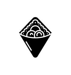 Wrap - fast food - doner kebab - toast ico vector