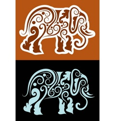 Elephant cutting sticker vector