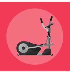 Elliptical cross trainer gym sports equipment vector