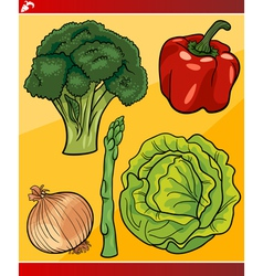 vegetables set cartoon vector image
