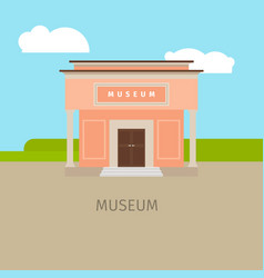 Colored museum building vector