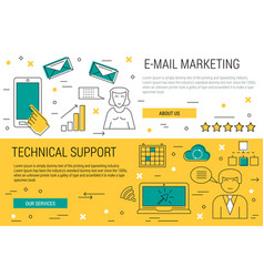 Two thin lines banners - e-mail marketing vector