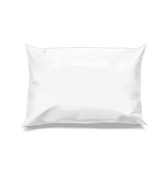 Food snack pillow realistic package vector