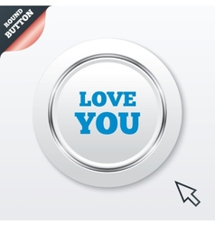 Love you sign icon valentines day symbol vector