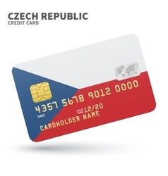 Credit card with czech republic flag background vector