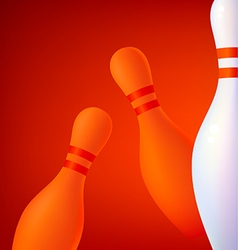 Background with bowling pins vector