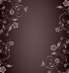 Flower ornament on brown background vector