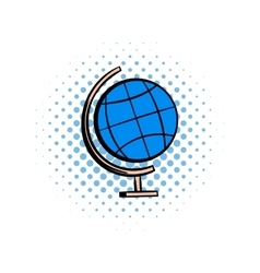 School geographical globe comics icon vector
