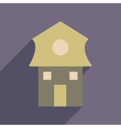 Flat web icon with long shadow house vector