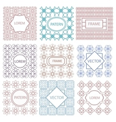 Pattern geometric frame tiled ornament vector image
