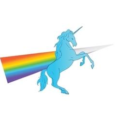 Unicorn silhouette icon logo with rainbow vector image