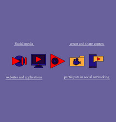 abstract social media background with lines vector image