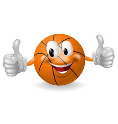 Basket ball mascot vector